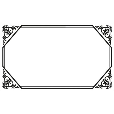 40 Decorative Rectangle Write-On Labels for Bottles & Jars, 2.5 x 1.5 Inches, White Matte Finish (Florence) - Bottle Labels