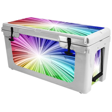 Skin for RTIC 65 Cooler (2017 Model) - Rainbow Explosion| MightySkins Protective, Durable, and Unique Vinyl Decal wrap cover  | Easy To Apply, Remove, and Change Styles | Made in the USA