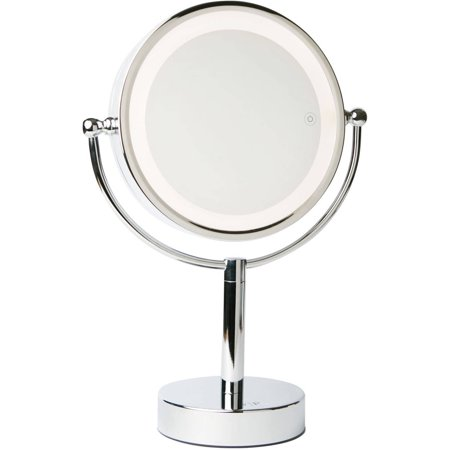 Vanity Planet Led Light Review : Vanity Planet Gleam Dual-Sided LED 1x/7x Magnifying Mirror - Walmart.com