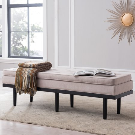 Admirable Southern Enterprises Rovallia Tufted Dining Bench Warm Bralicious Painted Fabric Chair Ideas Braliciousco