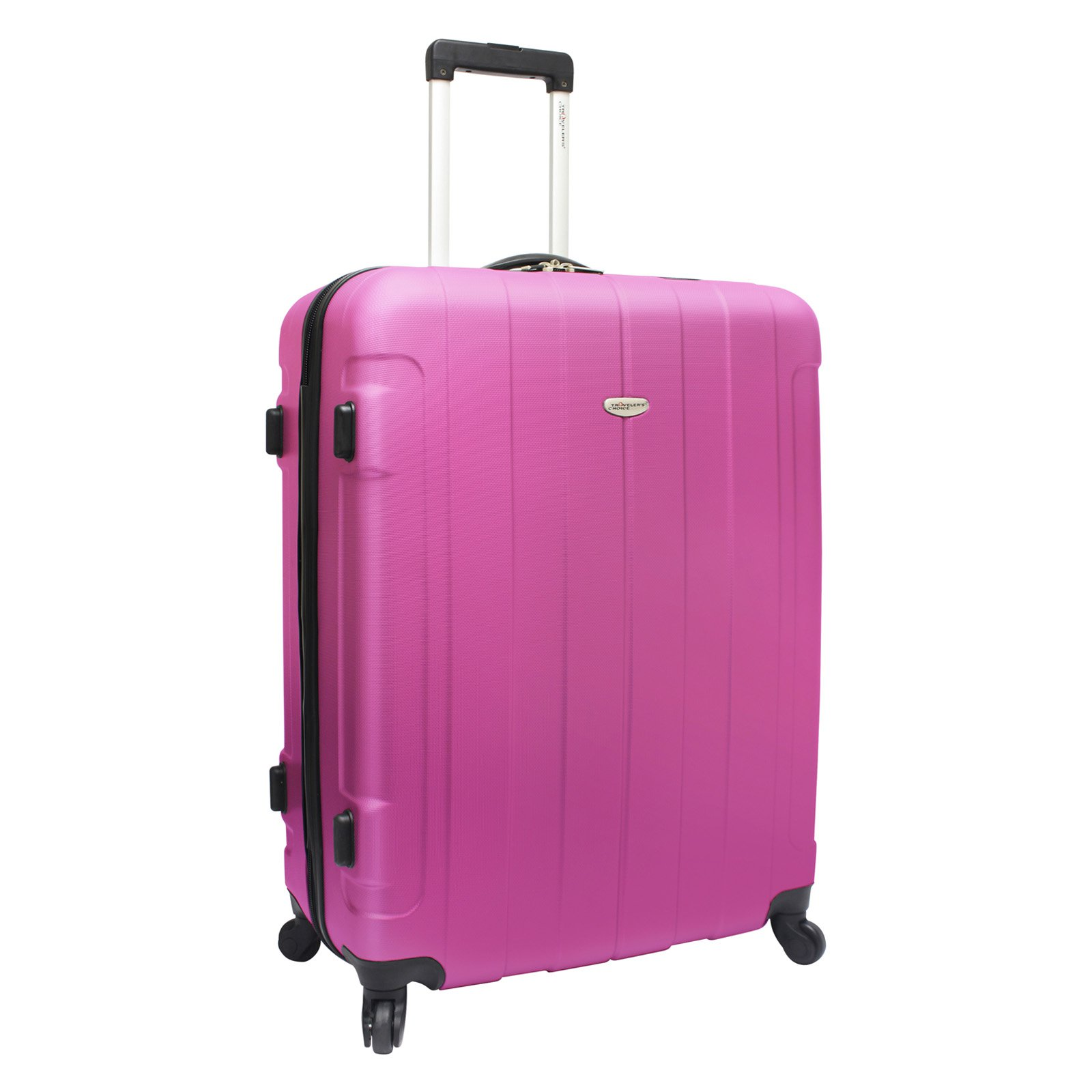 Travelers Choice Rome 28 in. Hardshell Upright Spinner Luggage with Free TSA Lock