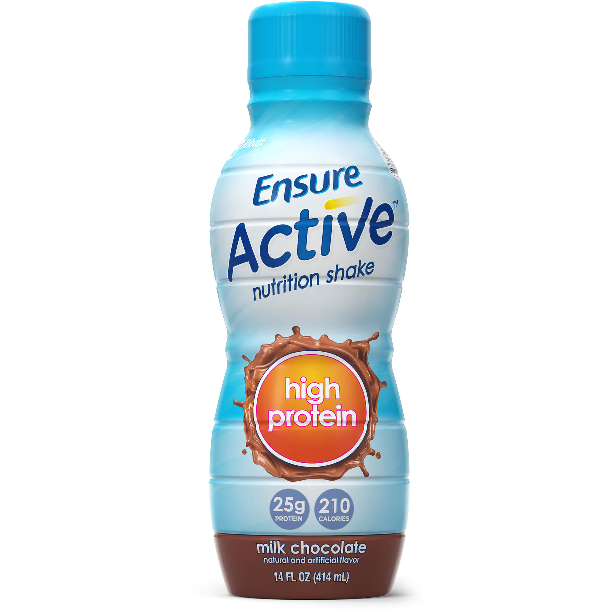 Ensure Active High Protein Shake, Chocolate,  14 fl oz bottle, 4 count