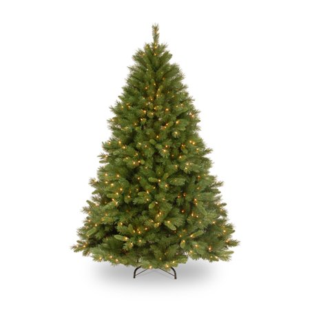 National Tree Pre-Lit 7-1/2' Winchester Pine Hinged Artificial Christmas Tree with 500 Clear Lights ()