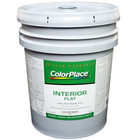 Colorplace Interior Flat Latex Wall And Trim Paint Country White