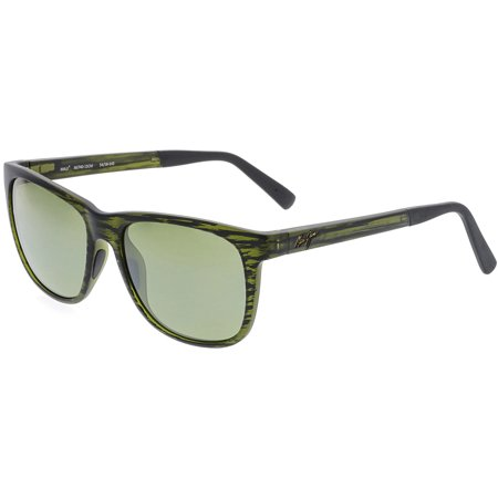 Maui Jim Polarized Tail Slide HT740-15CM Green Square (Maui Jim Pilot Polarized Sunglasses)
