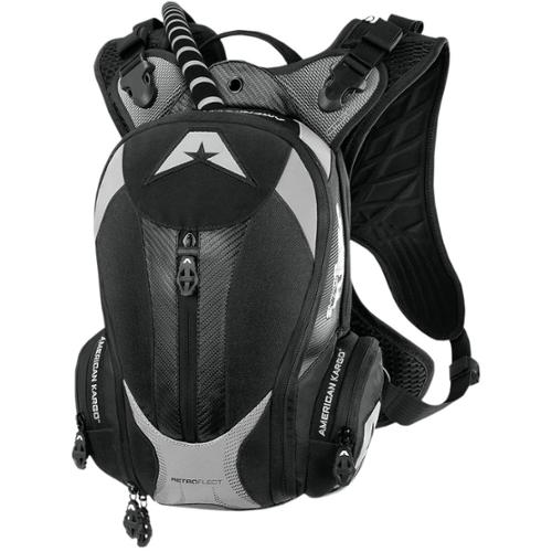 American Kargo Turbo 2L Hydration Pack Black by