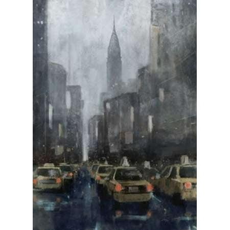 NYC Winter 2 Poster Print by Ken Roko