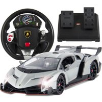 Best Choice Products 1/14 Scale RC Lamborghini Veneno Realistic Driving Gravity Sensor Remote Control Car - Red