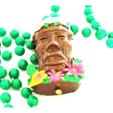 Tropical Tiki Head Laua Mardi Gras Bead Necklace Summer Beach Party, Genuine Authentic Mardi Gras Theme Beads- By Mardi Gras World](Mardi Gras Themes)
