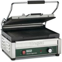 WARING COMMERCIAL WPG250 Ribbed Plates Large Panini Grill, 120V, 1800 Watts