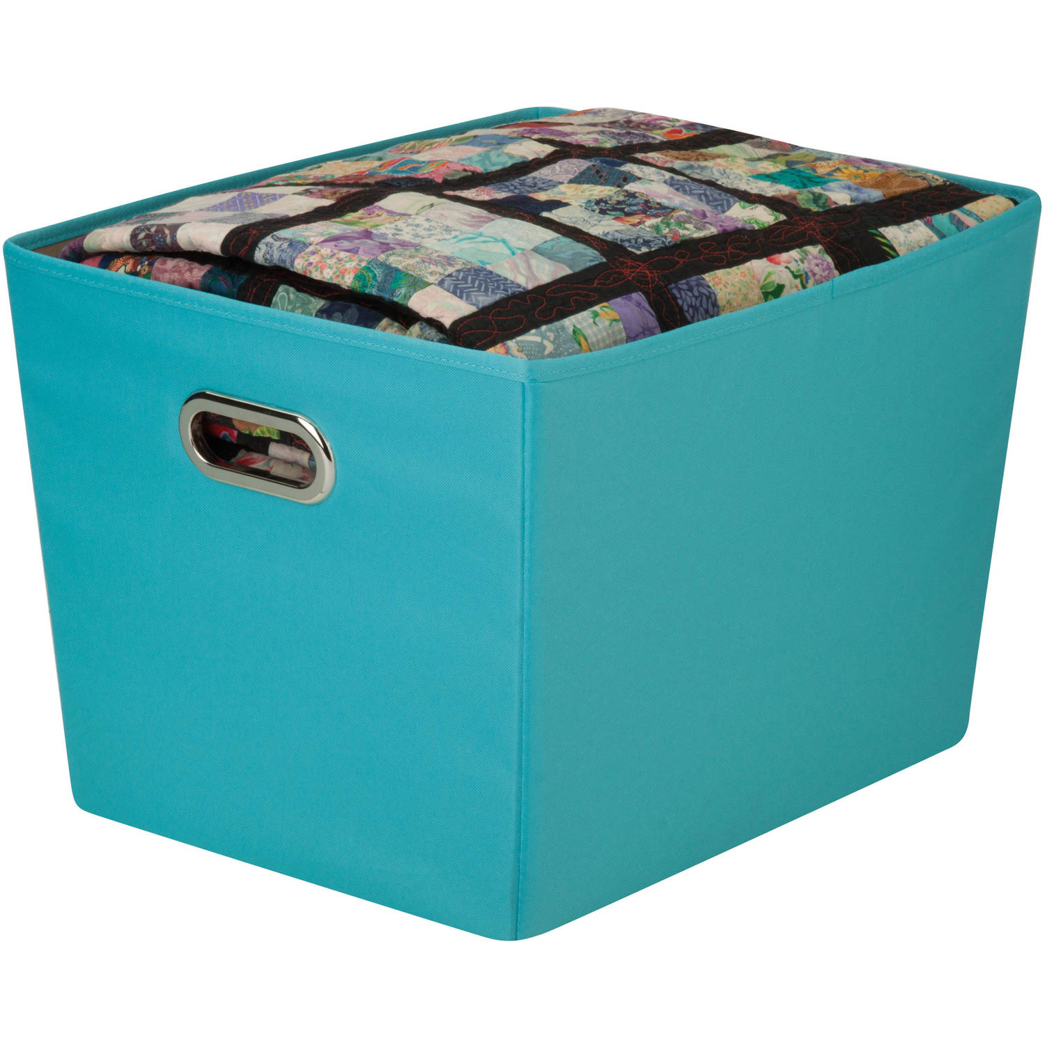Honey Can Do Large Decorative Storage Bin With Handles, Multicolor    Walmart.com