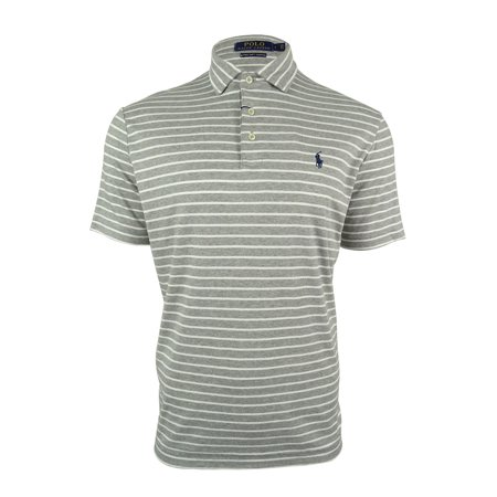 Polo Ralph Lauren Mens Striped Pima Soft Touch Polo Shirt
