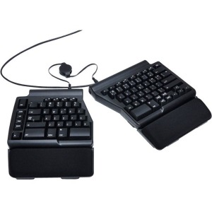 MATIAS ERGO PRO MECHANICAL SW KEYBOARD FOR PC LOW FORCE EDITION - Cable Connectivity - USB 2.0 Interface - English (US) - Compatible with Computer (PC) - QWERTY Keys Layout - Mechanical - Black