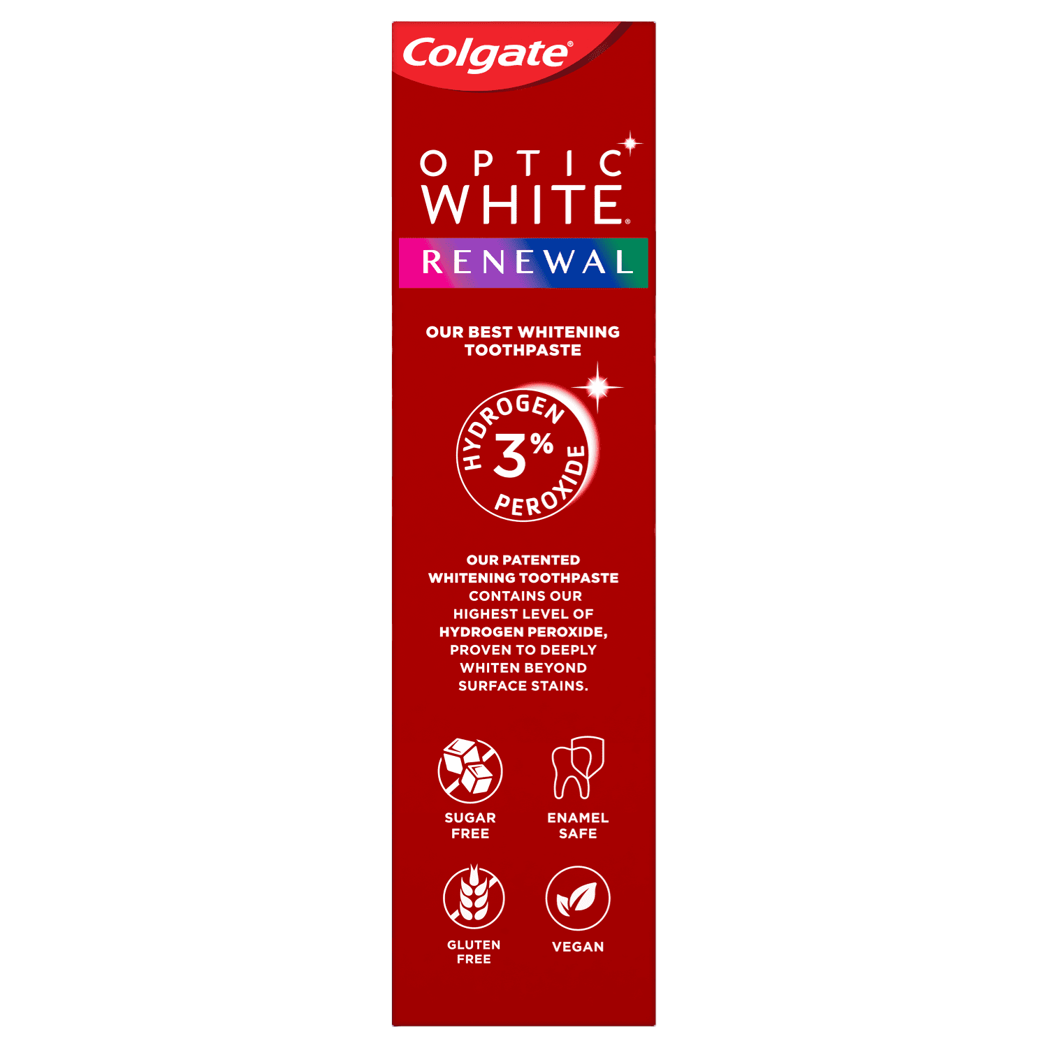 Colgate Optic White Renewal Teeth Whitening Toothpaste Enamel