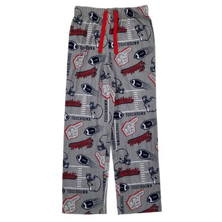 Boys Touchdown Football Gray Flannel Sleep Pants Pajama Bottoms