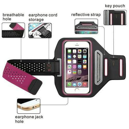 Apple iPod Touch 4/5/6Universal Sports Armband for Active Wear Gym Sport Running Armband Pouch For Workout + Key Holder - Hot