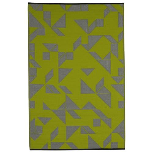 Fab Habitat Handmade Indo Santa Cruz Lime and Grey Geometric Area Rug (6' x 9')