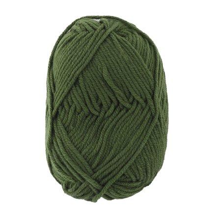 Ménage Tricot Crochet Pelote de Laine Fait Fibre Gants écharpe Fil à tricoter Vert armée 25g - image 4 de 4
