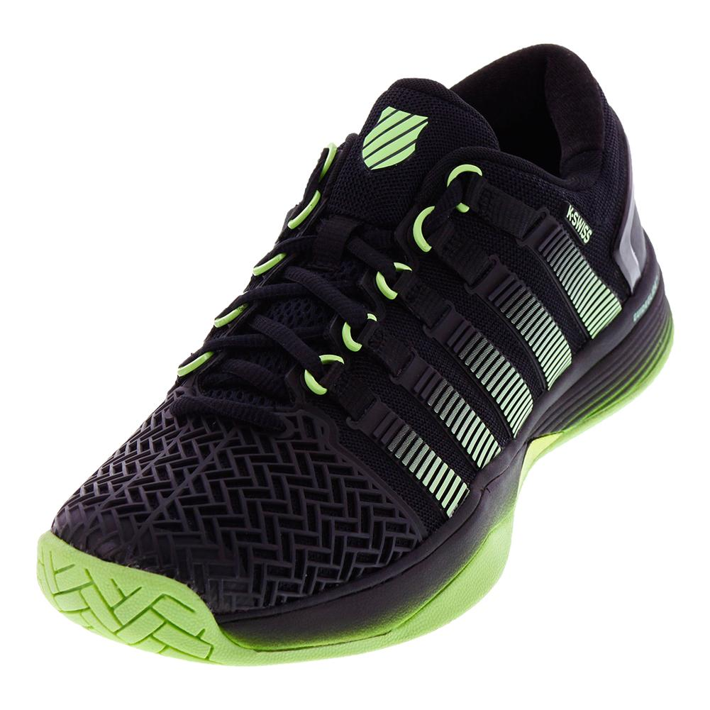 Men`s Hypercourt 2.0 Tennis Shoes Black and Paradise Green