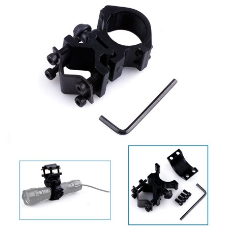 """1"""" Ring Tactical Flashlight Mount / Holder with Barrel / Weaver / Picatinny Mount Type for Night Hunting"""