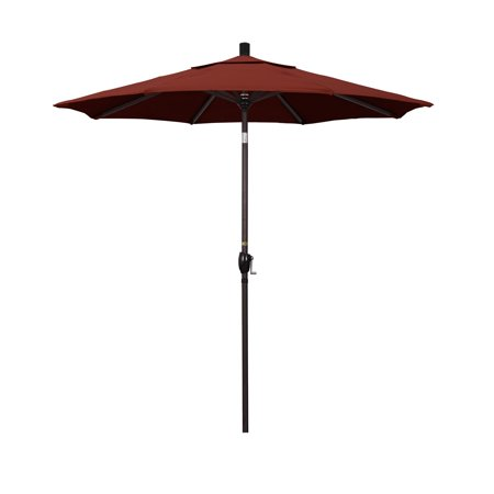 California Umbrella 7.5 ft. Aluminum Push Button Tilt Sunbrella Market Umbrella ()