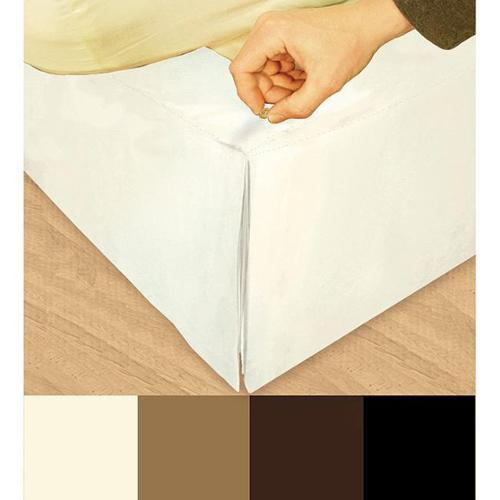 Veratex 'Hike Up Your Skirt' Microfiber Adjustable 17-inch Drop King-size Bedskirt Chocolate