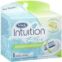 Energizer Schick Intuition Plus Cartridges, 6 ea