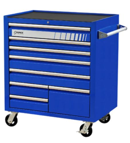Sunex 8060BL Blue Premium 8 Drawer Service Cart