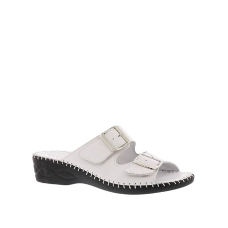 David Tate Womens Slide - David Tate Womens Rudy Leather Open Toe Casual Slide Sandals