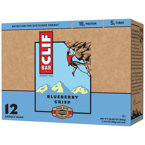 Clif Bar Blueberry Crisp Energy Bars, 2.4 oz, 12 count