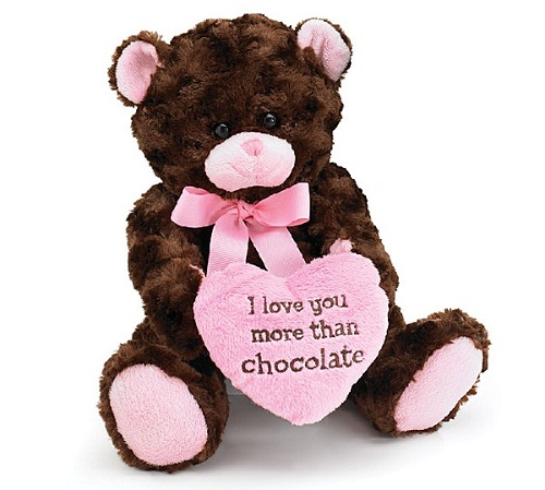 I Love You More Than Chocolate Valentines Day Heart Teddy Bear by burton %2B BURTON