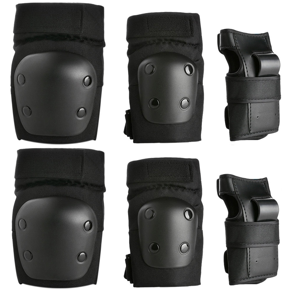 6PCS Kids Skating Knee Elbow Waist Protective Gear Pads Set Support Brace Guards for Children by