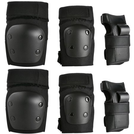 6PCS Kids Skating Knee Elbow Waist Protective Gear Pads Set Support Brace Guards for