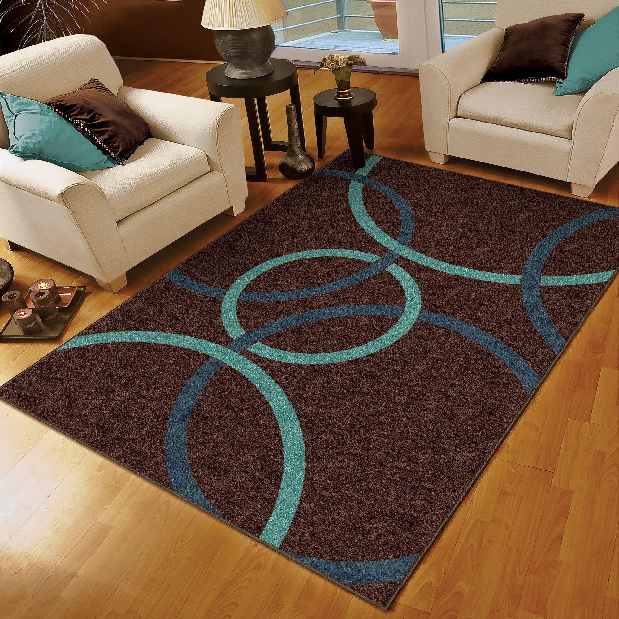 Walmart Rugs For Living Room Orian Gavin Area Rug 53 X 76 Walmartcom
