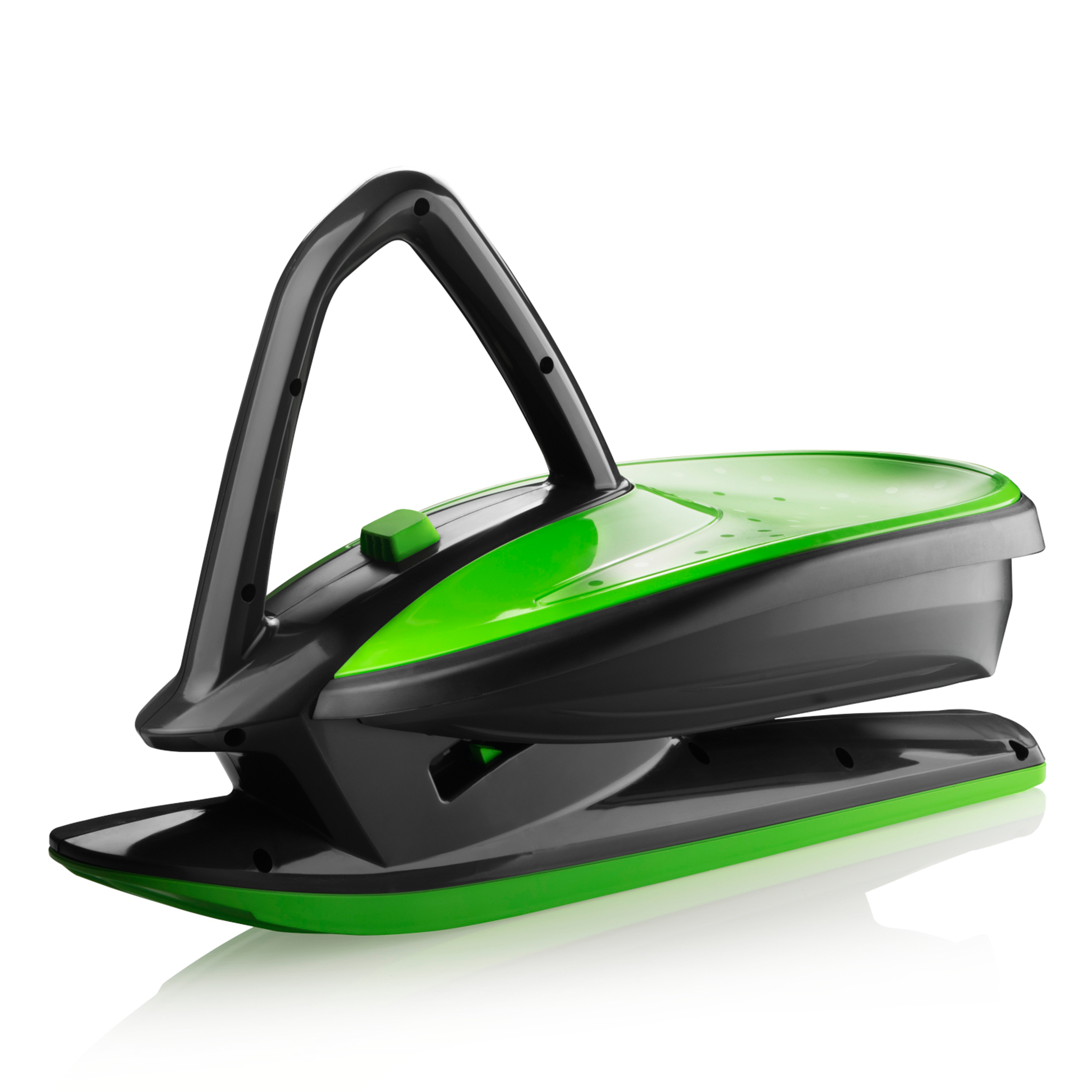 Skidrifter Slope Racer Ski Sled for Kids and Adults with Manual Stability Program Button by Gizmo Riders Mystic Green by Plastkon