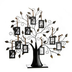 Family Tree; Picture Frame Display with 10 Hanging Pictur...