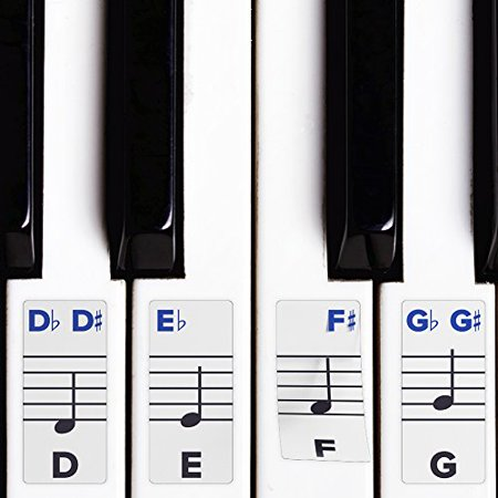 Piano Stickers For Keys - Removable 49 / 61 / 76 / 88 Keyboards Topseller-