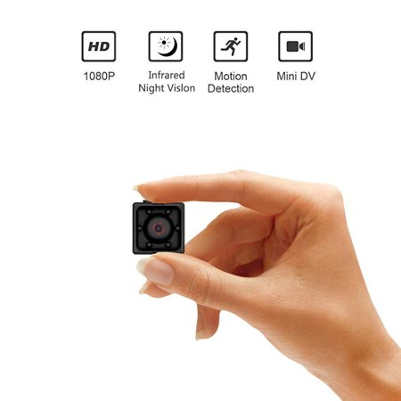 Reactionnx Mini Wireless Security Camera, Full HD 1080P Portable Small HD Nanny Cam with Night Vision, Video Record and Motion Detection for Home, Car, Drone, Office and Outdoor Use (Stop Motion Video Camera)