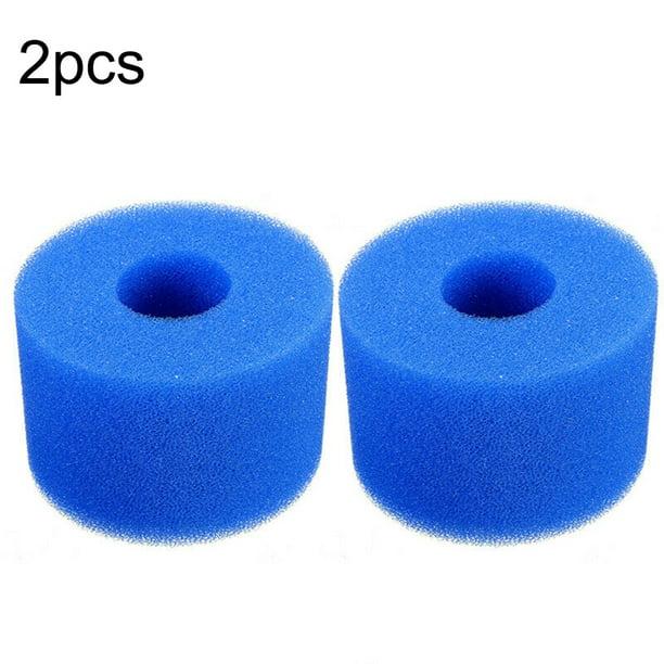 10 YELITE Filter Sponge Washable Reusable Swimming Pool Filter Pump Cartridge Sponge Foam for Intex System Type A 20 4cm 1PC, Blue