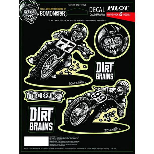 Dirt Bike 2-Sticker Combo Dirt Brains