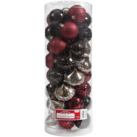 Ornaments In Bulk (Holiday Time 50 Shatterproof Ornaments, Lodge, Timeless)