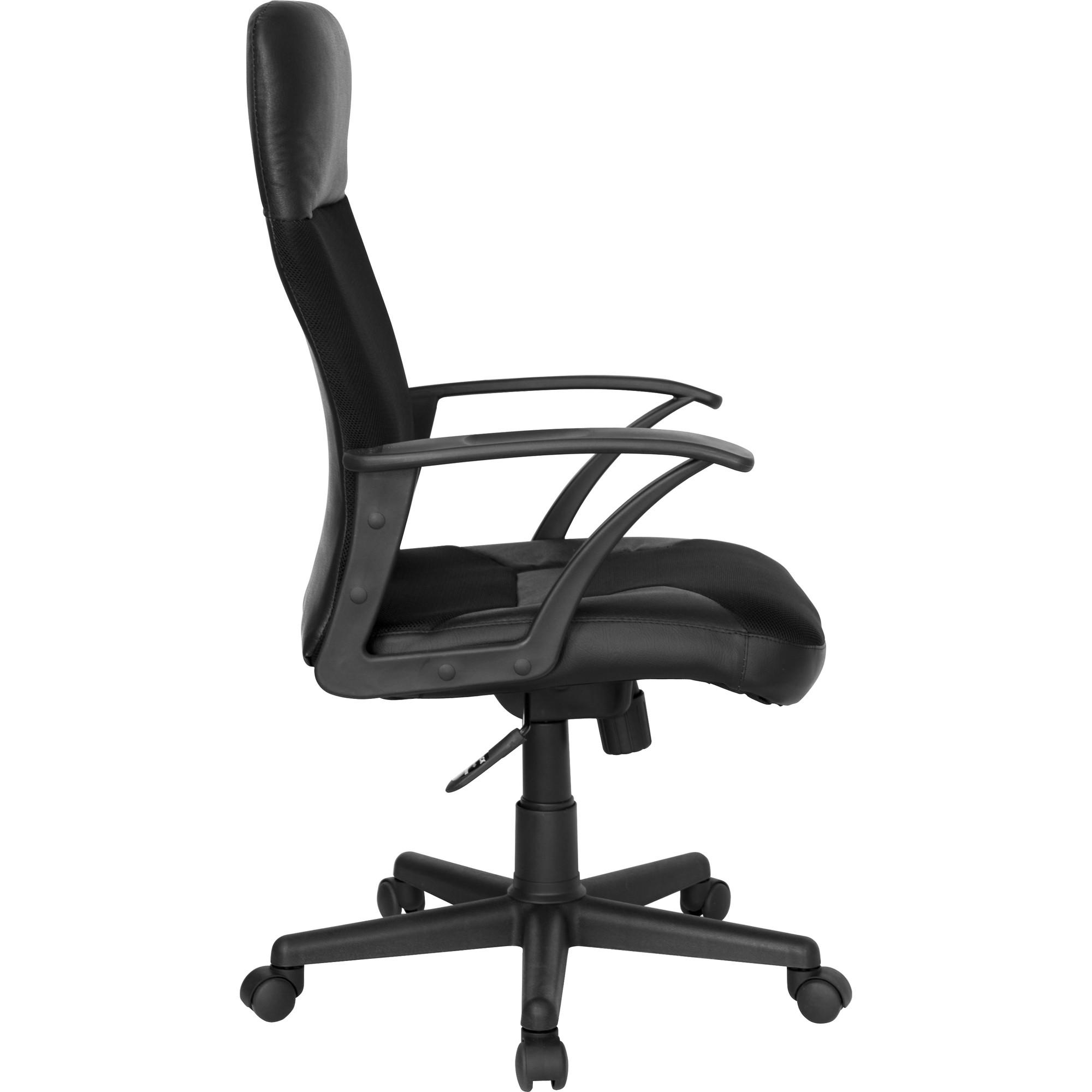 High Back Leather Mesh Executive Swivel Chair Black Walmart