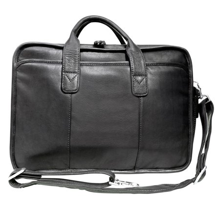 Canyon Outback Leather Glacier Canyon 16-inch Slim-Line Briefcase - Black