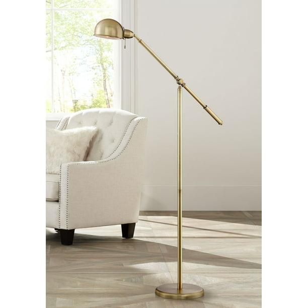 360 Lighting Modern Pharmacy Floor Lamp, Vintage Brass Pharmacy Lamp
