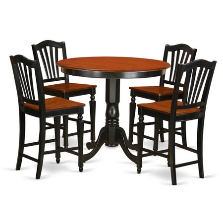 BLK W 5 Piece Counter Height Dining Table Set Counter Height Table