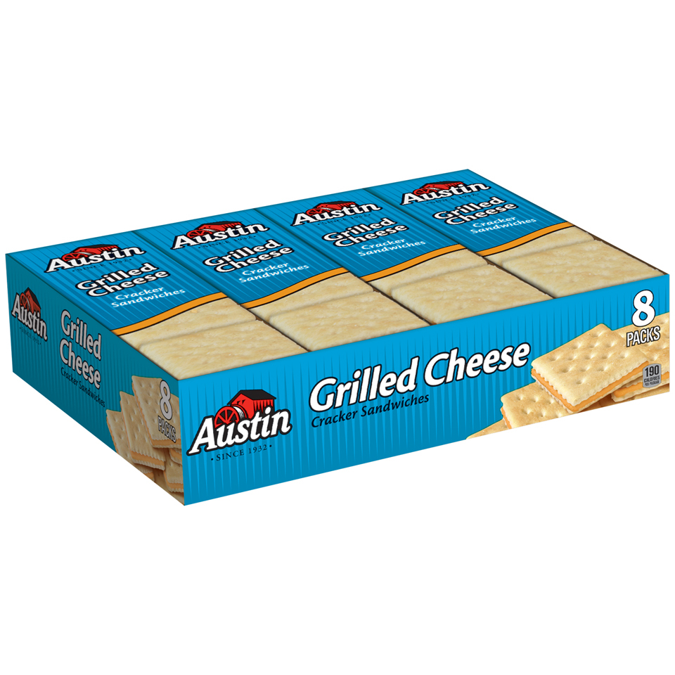 Austin Grilled Cheese Cracker Sandwiches, 1.38 oz, 8 count