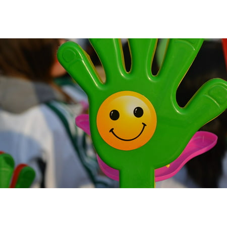 Clapper Hands (LAMINATED POSTER Hand Happy Clap Noisy Happy Face Clapper Poster Print 24 x)