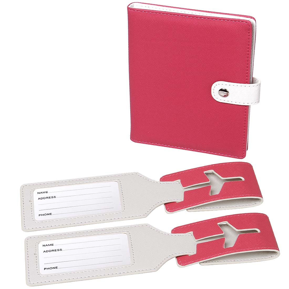 RoryTory RFID Protection Passport Case Holder And 2 Matching Luggage Tag