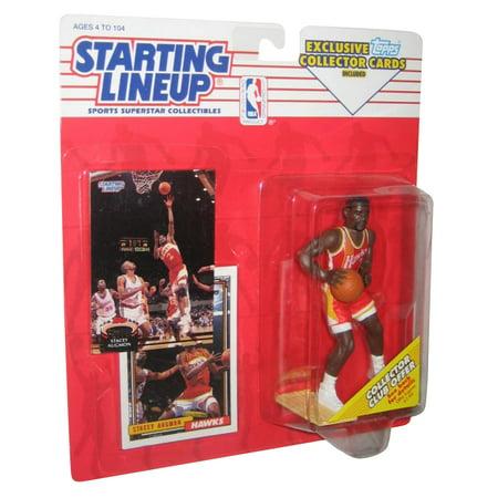 1993 Starting Lineup Figure (NBA Basketball Starting Lineup Stacey Augmon Hawks Figure (1993) w/)