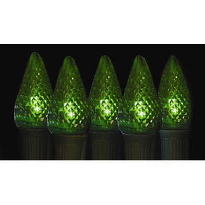 Brite Ideas 25 Bulb Green C9 LED Light Set